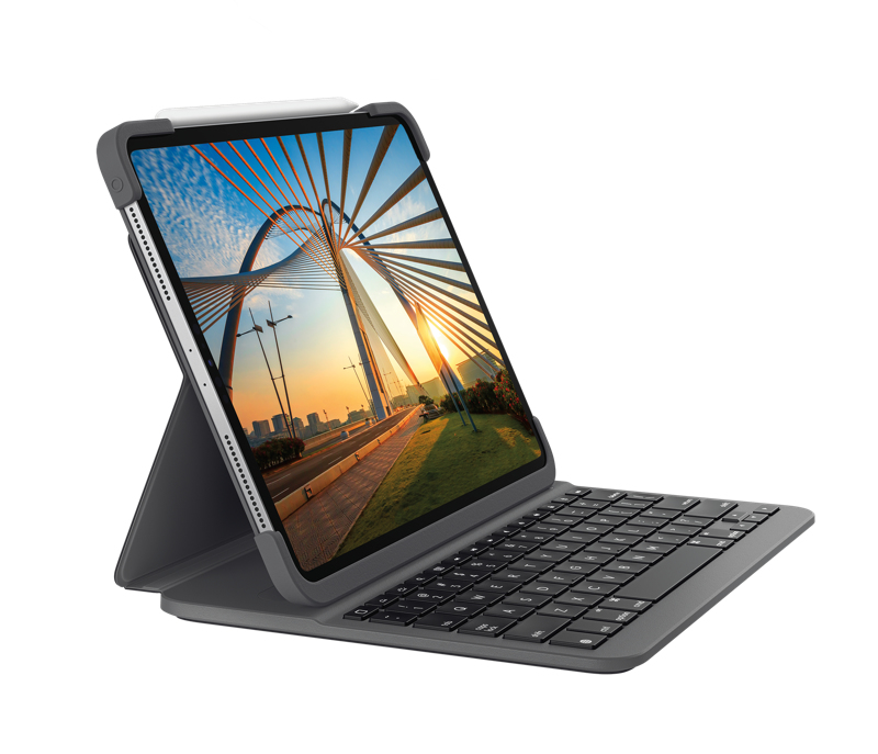 Logitech%20Keyboard%20and%20foil%20cover%20-%20backlit%20-%20wireless%20-%20bluetooth%20LE%20-%20german